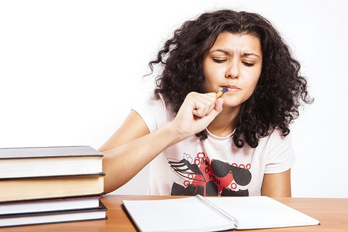 Studying girl