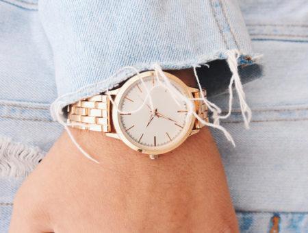 Girl wearing a watch