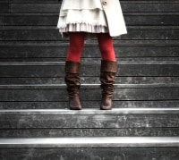 Girl Wearing Brown Boots