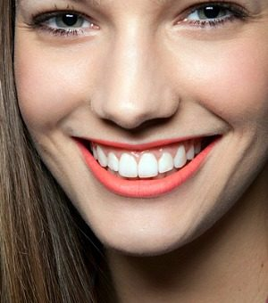 Girl with white teeth