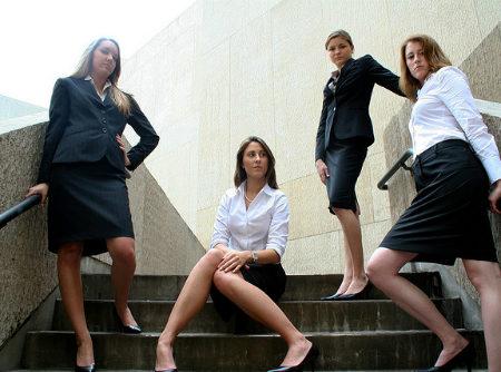 Girls in business attire