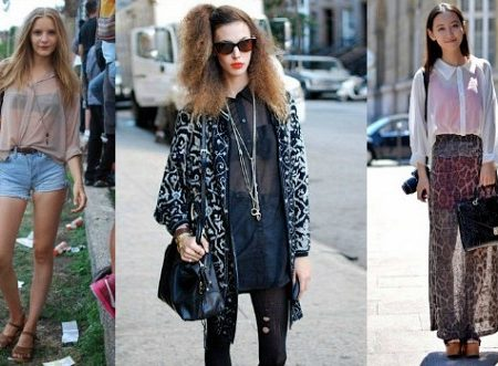 Sheer top trend - Girls wearing sheer tops