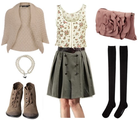 Girly way to wear a full skirt