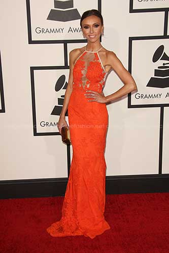 Giuliana Rancic in Alex Perry at the 2014 Grammy Awards