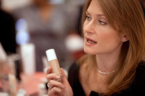 Woman giving makeup advice