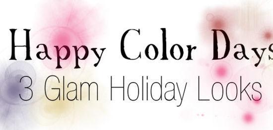 Glam holiday header