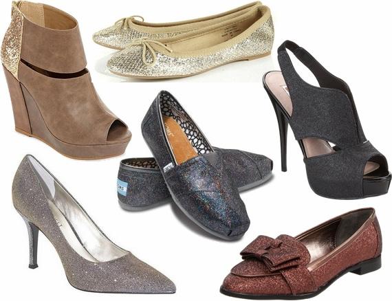 glitter fall 2012 shoe trend