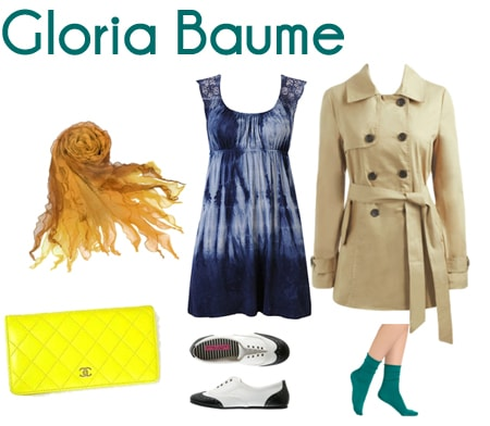 gloria baume outfit
