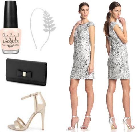 Going out look for events featuring a silver sequin dress