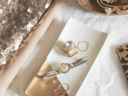 Gold dipped jewelry tray from A Fabulous Fete