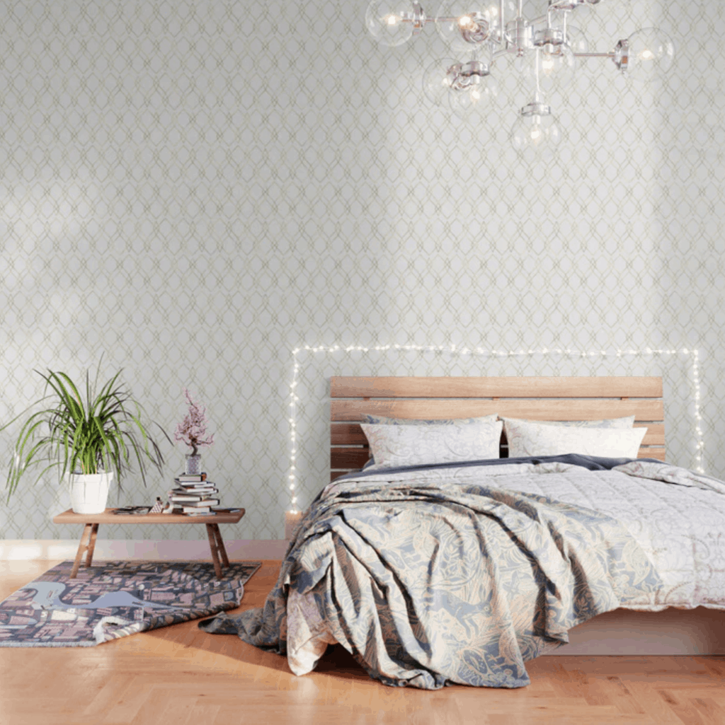 Gold geometric wallpaper from Society 6