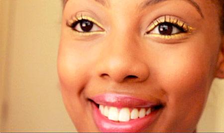 """""""Gold leaf"""" eyeliner look"""