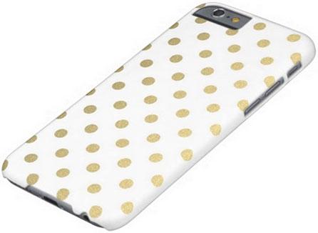Gold polka dot iphone 6 case