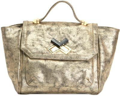 Gold satchel deux lux