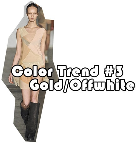 Fall 2010 color trend: Gold