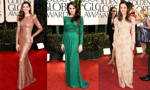Golden Globes 2011 trend long sleeves