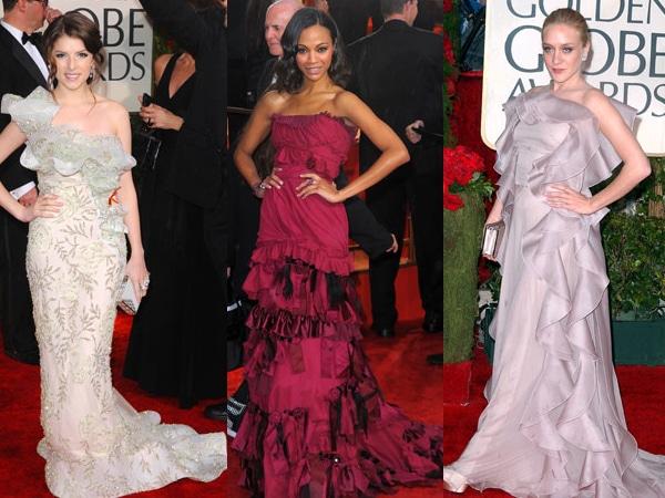 Golden Globes Ruffle Dresses