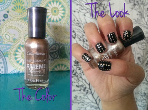 Golden i nail polish look