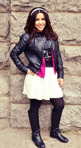Fashion at Gonzaga University - student wearing a backpack