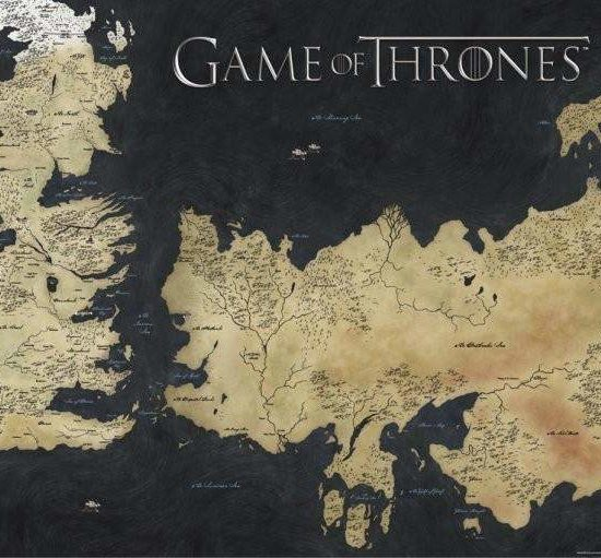 Game of Thrones Westeros poster