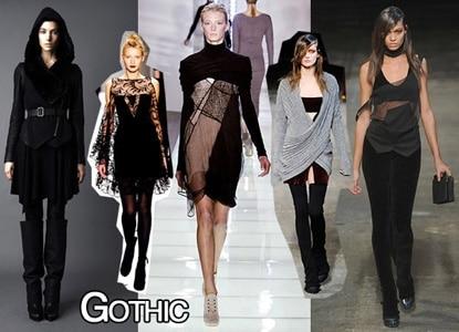Goth fashion trend