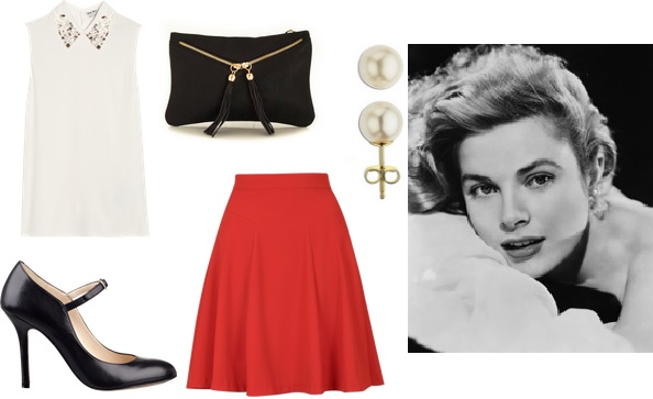 Grace Kelly muses look