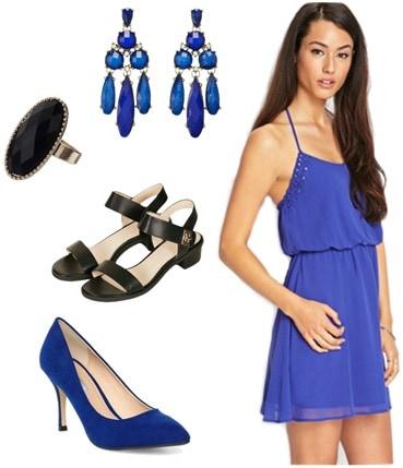 Graduation outfit blue dress