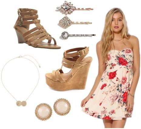 Graduation outfit floral dress