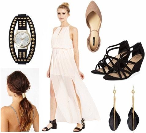 Graduation outfit sheer dress