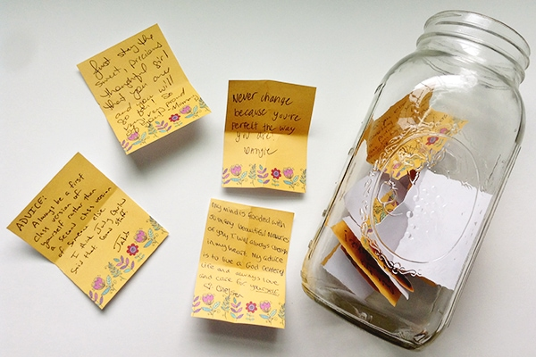 Memory jar and notes