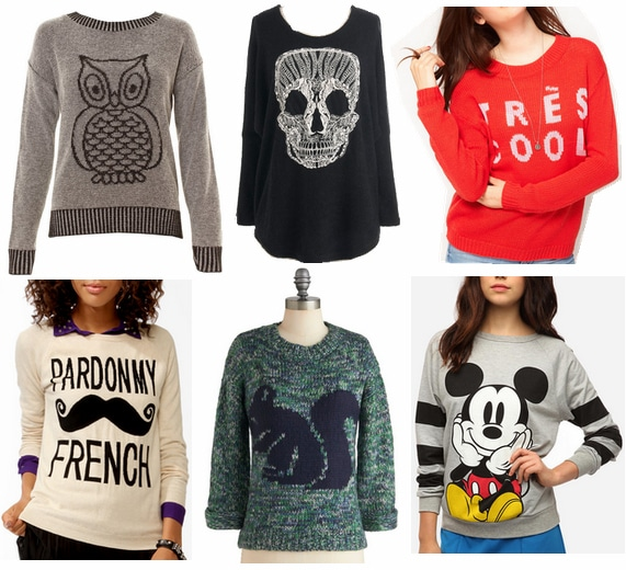 graphic sweaters fall 2012 must-have