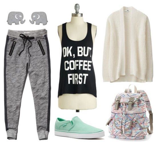 graphic tank and joggers