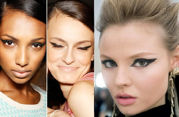 Graphic Eyeliner On The Runway