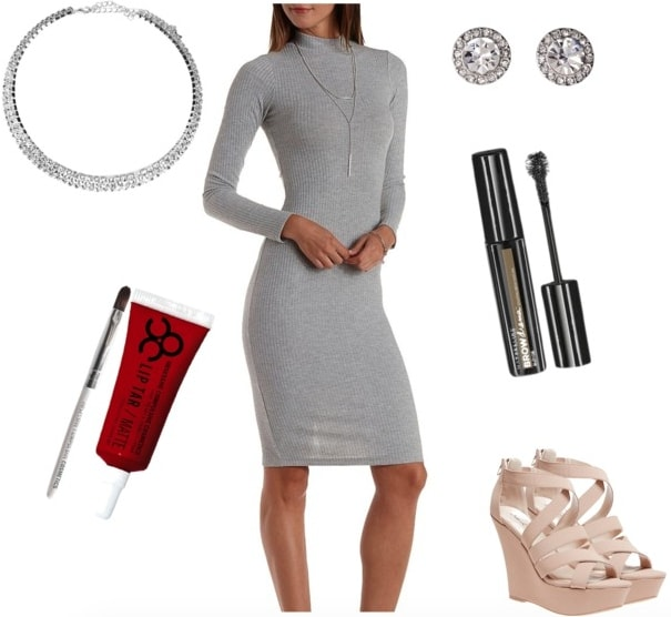 P!ATD Gray dress outfit