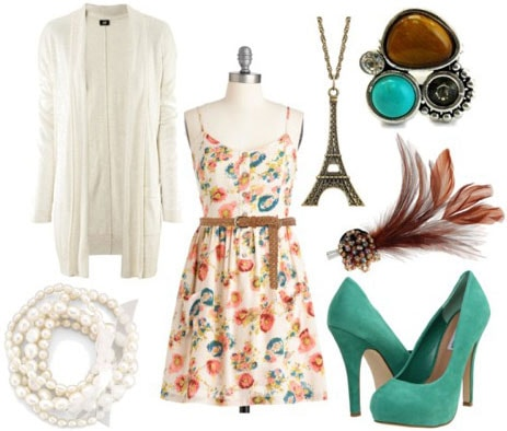 Fashion inspired by The Great Gatsby: Outfit 3