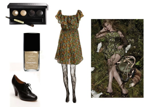 Outfit inspired by the greenery of Ireland