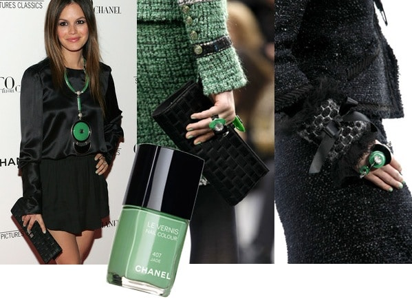 Chanel Jade Green Nail polish - hot nail polish trend
