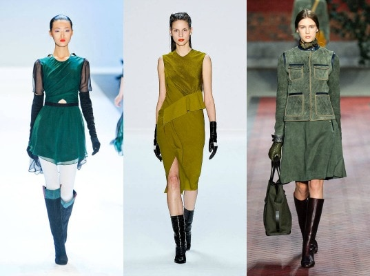 Green on the fall 2012 runway