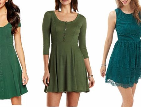 Green skater dresses
