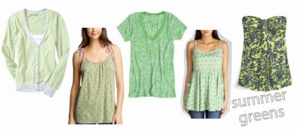Roksanda Resort 2011 - Summer green dresses and tops