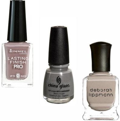 Grey beige nail polish