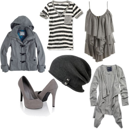 Grey clothing and accessories
