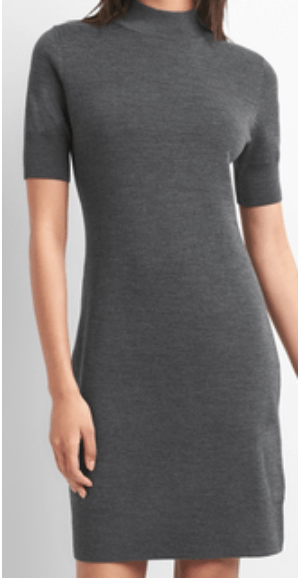 grey dress gap mockneck