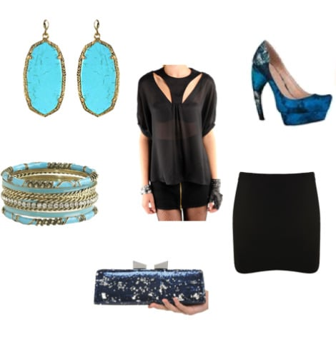 Look inspired by the Grotta Azzurra