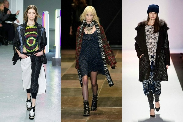 Grunge inspired fashion on the fall 2013 runways