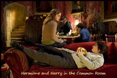 Gryffindor common room Harry Hermione