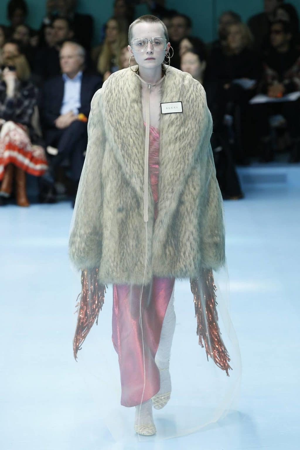 Gucci Fall 2018 faux fur coat