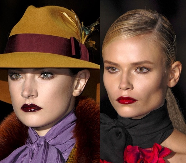 Red Lipstick on the Gucci Runway