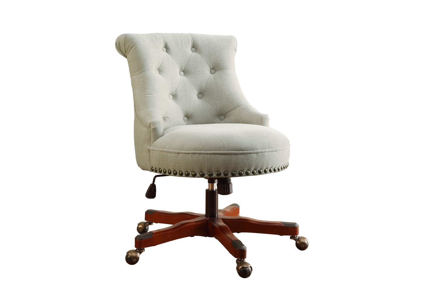 white-swivel-chair