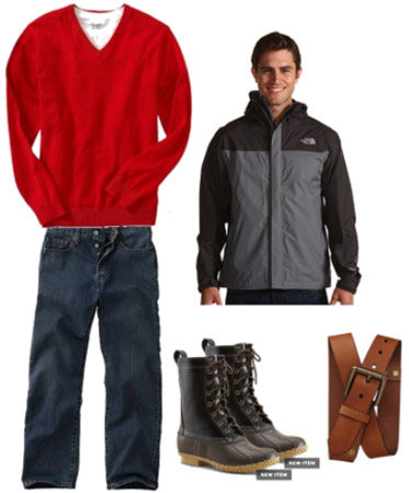 Rainy day outfit for guys